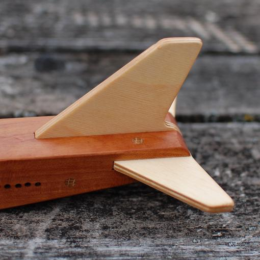 wooden toy plane tail